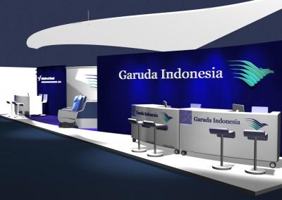Garuda Indonesia – Messestandkonzept