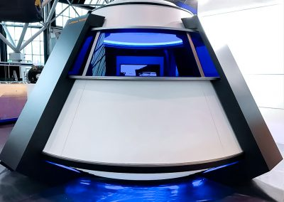 "Lufthansa Technik AG – Design exhibition pavilion in the shape of a ""space capsule"