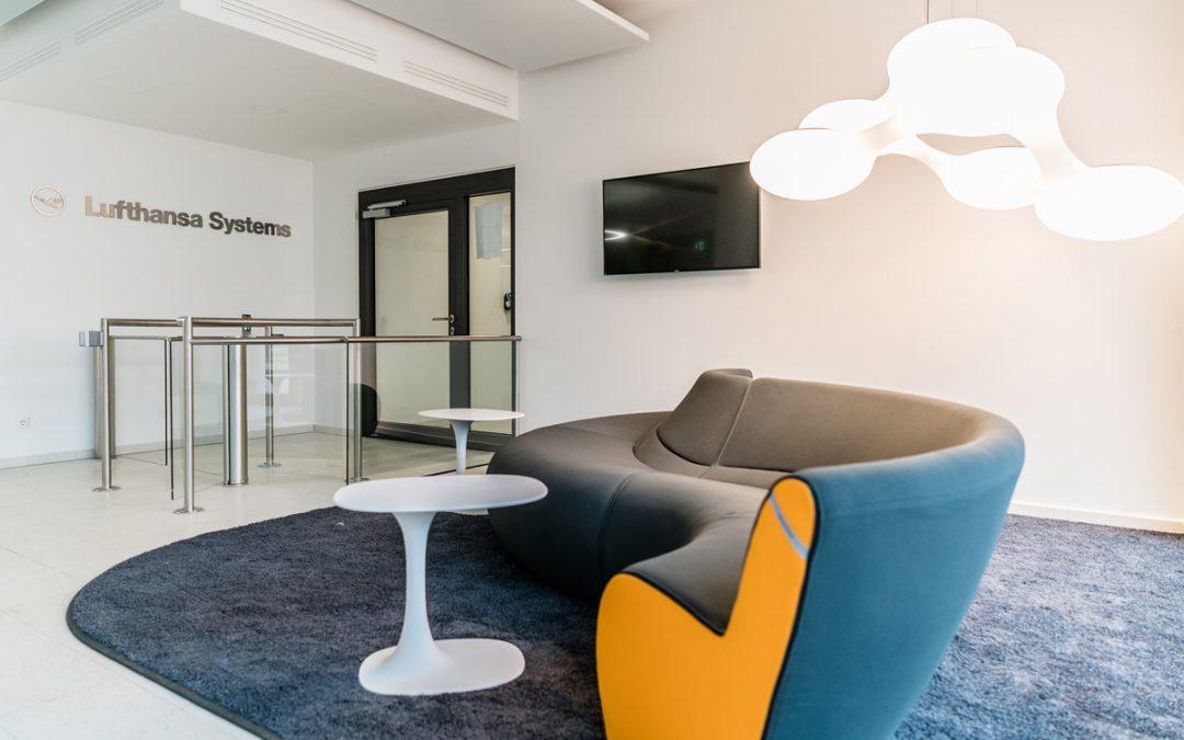 Lufthansa Systems – Innenarchitektur + Möbeldesign: Foyer, Lounge, Showroom, Geschäftsführerbereich